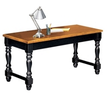 Distressed Black and Oak Writing Desk, 15235