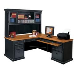 Right Return L Desk with Hutch, 15236
