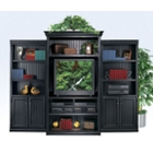 Distressed Black Wall Unit, 15238
