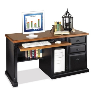 Distressed Black Computer Desk, 15240