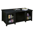 Double Pedestal Executive Desk with Glass Doors and a Distressed Finish, 15350