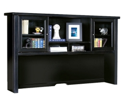 "68"" Glass Door Hutch in a Distressed Finish, 15356"