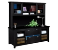 Storage Credenza with Sliding Door Hutch in a Distressed Finish, 15357