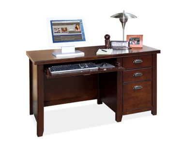 Cherry Single Pedestal Desk, 15662