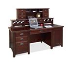 Cherry Computer Desk with Hutch, 15670