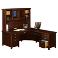 Right Return L-Desk with Hutch, 15763