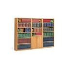 Medium Oak Contemporary Library Wall, CD06166