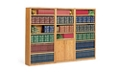 Medium Oak Contemporary Library Wall, 32479