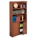 Mission Oak Bookcase with Doors, 32523