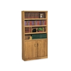 Medium Oak Bookcase with Doors, 32528