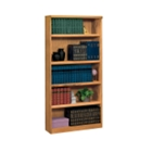 Medium Oak Five Shelf Bookcase, 32529
