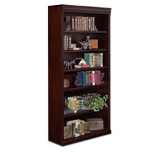 "Six Shelf Transitional Bookcase - 72""H, 32554"