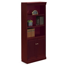 "Cumberland Five Shelf Bookcase with Doors - 72""H, 32988"