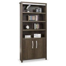 "Metropolitan 78""H Six Shelf Bookcase with Doors, 32997"