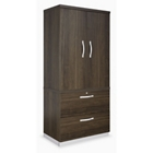 Metropolitan Wardrobe Cabinet with Two Drawer Lateral File, 36952