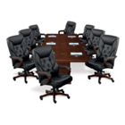 Chairs shown around a 12 conference table
