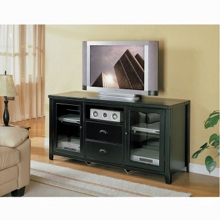 Tall Glass Door TV Stand in a Distressed Finish, 43147