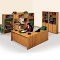 Medium Oak Left L-Desk Office Set, 86189
