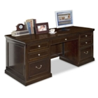 Espresso Double Pedestal Executive Desk, 15928