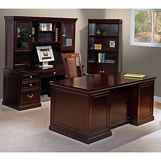 Espresso Four Piece Office Group 15934 And More Office Desks