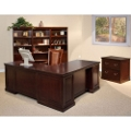 Espresso L-Desk with Right Return Office Group, 15943