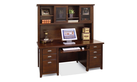 Cherry Executive Desk with Hutch, 15671