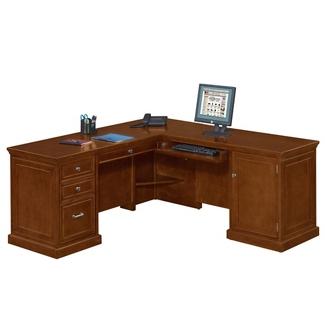 Statesman Compact L-Desk with Right Return, 13168