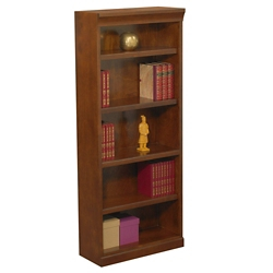 "Statesman 72"" H Five Shelf Veneer Bookcase, 32882"