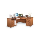 Wheat Oak Left  L Desk, 15599