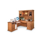 Wheat Oak Left L Desk and Hutch, 15596