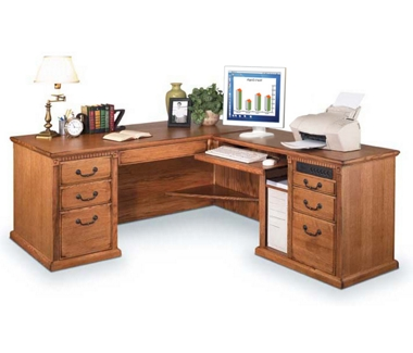 Wheat Oak Right L Desk, 15598