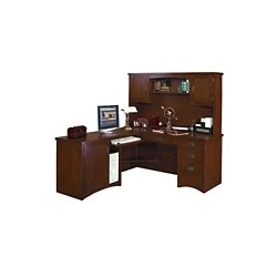 finish left return l desk with hutch 15687 and more office desks