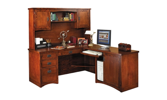Mission Finish L-Desk with Right Return, 15685