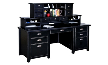 "Two Hutch Home Office Desk - 68.25""W x 32""D, 13536"