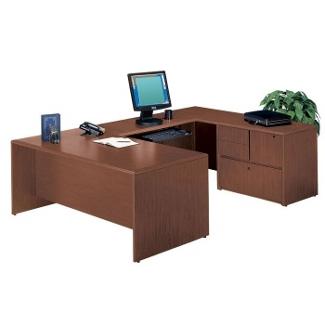 Executive U-Desk with Right Bridge, 10847