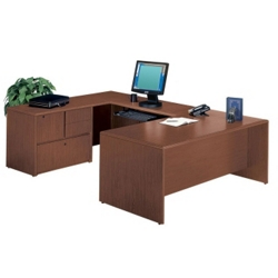 Executive U-Desk with Left Bridge, 10848