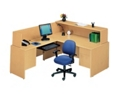 Reception L -Desk with Left Return, 10856