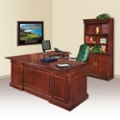 Keswick L-Desk with Right Return and Doored Bookcase, 13390