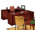 U-Desk with Left Lateral File Credenza, 15153