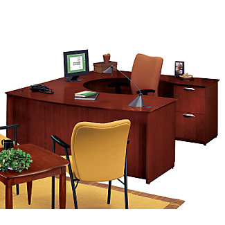 U Desk With Right Lateral File Credenza 15154 And More Office Desks