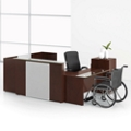 Wood Veneer Reception U-Desk with Right Return, 15839