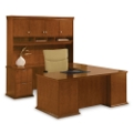 U-Desk Left Return with Hutch, 15883
