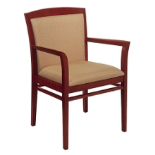 Side Chair with Wood Arms, 52332