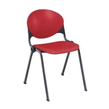 Cinch Stack Chair with Black Frame, 50825