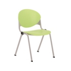 Cinch Stack Chair with Platinum Metallic Frame, 50826