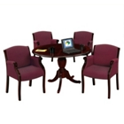 "Keswick 48"" Round Conference Table and 4 Guest Chairs, 86181"