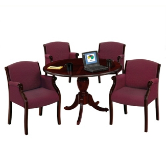 """Keswick 48"""" Round Conference Table and 4 Guest Chairs, 86181"""