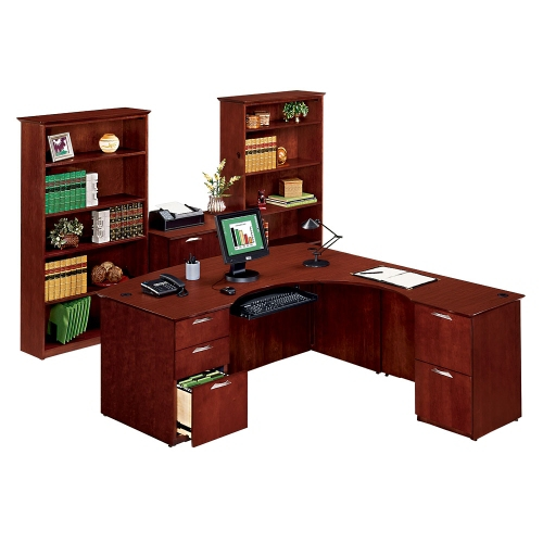 national office furniture clever ldesk with right return office set