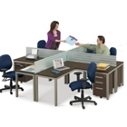 At Work Four Person Compact Workstation Set, 13380