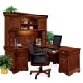 Right L-Desk with Hutch and Chair, 14308